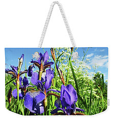 Summer Irises Weekender Tote Bag