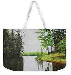 Summer Lake Weekender Tote Bag