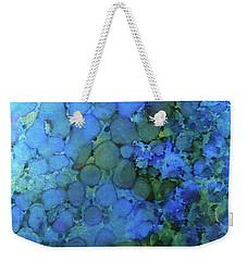 Weekender Tote Bag featuring the painting Summer Lake Ink #5 by Sarajane Helm