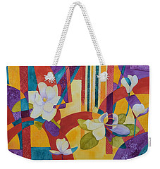 Summer Magnolias Weekender Tote Bag by Nancy Jolley