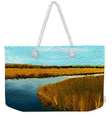 Summer Marsh South Carolina Lowcountry Weekender Tote Bag by Anthony Fishburne