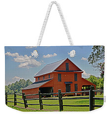 Weekender Tote Bag featuring the photograph Summer On The Farm by Linda Brown