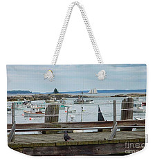 Summer On The Harbor Weekender Tote Bag