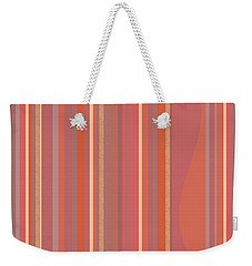 Weekender Tote Bag featuring the digital art Summer Peach by Val Arie