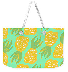 Summer Pineapples Weekender Tote Bag by Allyson Johnson