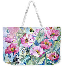 Summer Poppies Weekender Tote Bag by Iya Carson