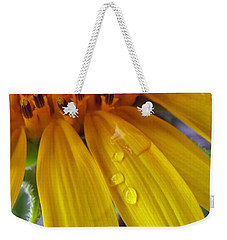 Summer Rain On Sunflower Weekender Tote Bag