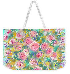 Weekender Tote Bag featuring the painting Summer Scarf by Jean Pacheco Ravinski
