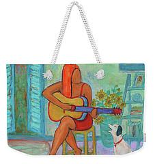 Weekender Tote Bag featuring the painting Summer Serenade II by Xueling Zou