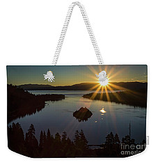 Weekender Tote Bag featuring the photograph Summer Solstice Emerald Bay by Mitch Shindelbower