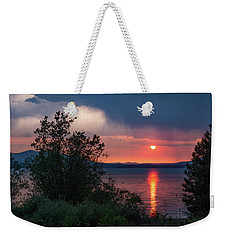Weekender Tote Bag featuring the photograph Summer Storm by Jan Davies