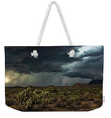 Weekender Tote Bag featuring the photograph Summer Storm  by Saija Lehtonen