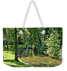 Weekender Tote Bag featuring the photograph Summer Stream by Cricket Hackmann
