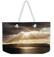 Summer Sun On Yellowstone Lake Weekender Tote Bag