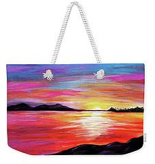 Weekender Tote Bag featuring the painting Summer Sunrise by Sonya Nancy Capling-Bacle