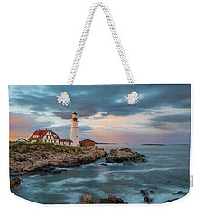 Summer Sunset At Portland Head Light Weekender Tote Bag
