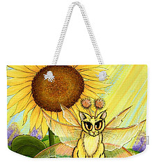 Summer Sunshine Fairy Cat Weekender Tote Bag