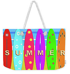 Summer Surf Weekender Tote Bag