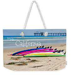 Summer Surf Day With Text Weekender Tote Bag