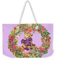 Summer Teddy Bear With Roses Weekender Tote Bag
