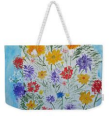 Weekender Tote Bag featuring the painting Summer Tee by Barbara McDevitt