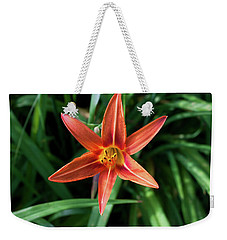 Weekender Tote Bag featuring the photograph Summer Tiger Lily by Jeff Severson