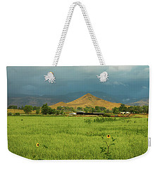 Weekender Tote Bag featuring the photograph Summer View Of  Hay Stack Mountain by James BO Insogna