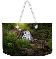 Weekender Tote Bag featuring the photograph Summer Waterfall by Bill Wakeley