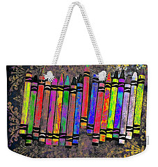 Weekender Tote Bag featuring the digital art Summer's Crayon Love by Iowan Stone-Flowers