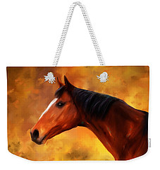 Summers End Quarter Horse Painting Weekender Tote Bag