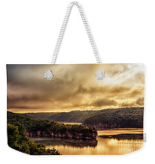 Summersville Lake At Daybreak Weekender Tote Bag