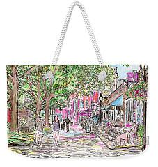 Summertime In Newburyport, Massachusetts Weekender Tote Bag