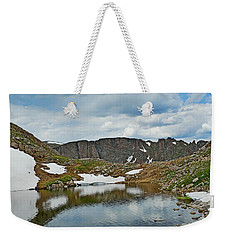 Summit Lake In Summer Weekender Tote Bag