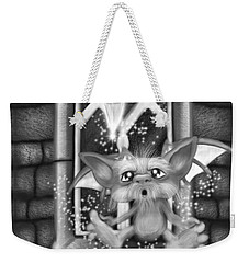 Summoned Pet - Black And White Fantasy Art Weekender Tote Bag