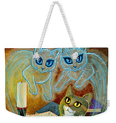 Summoning Old Friends - Ghost Cats Magic Weekender Tote Bag