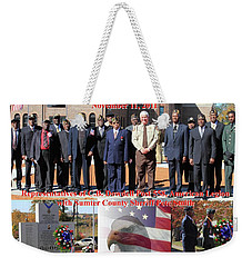 Weekender Tote Bag featuring the photograph Sumter County Memorial Of Honor by Jerry Battle
