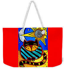 Sun And Moon - Honourable Cat - Art By Dora Hathazi Mendes Weekender Tote Bag