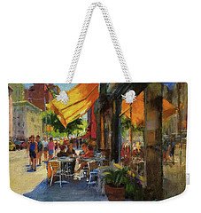 Sun And Shade On Amsterdam Avenue Weekender Tote Bag