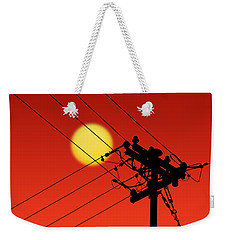 Sun And Silhouette Weekender Tote Bag