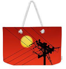 Sun And Silhouette Weekender Tote Bag