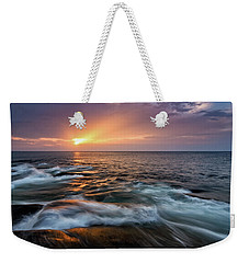 Sun Beams Halibut Pt. Rockport Ma. Weekender Tote Bag
