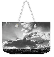 Sun Beams Over Church Weekender Tote Bag