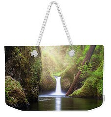 Sun Beams Over Punch Bowl Falls Weekender Tote Bag
