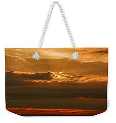Sun Behind Dark Clouds In Vogelsberg Weekender Tote Bag