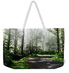 Weekender Tote Bag featuring the photograph Sun Burning Through The Fog by Katie Wing Vigil