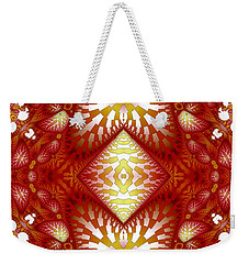 Sun Burnt Orange Fractal Phone Case Weekender Tote Bag