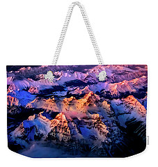 Weekender Tote Bag featuring the photograph Sun Catcher - Assiniboine by John Poon