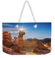 Sun Dog Weekender Tote Bag