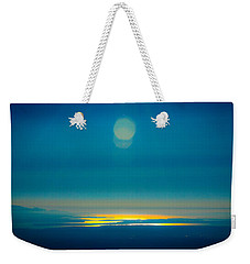 Sun Going Down On The Sound Weekender Tote Bag