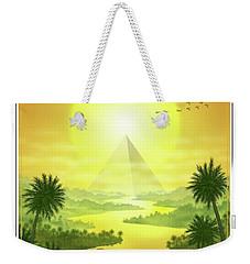 Weekender Tote Bag featuring the digital art Sun King by Scott Ross